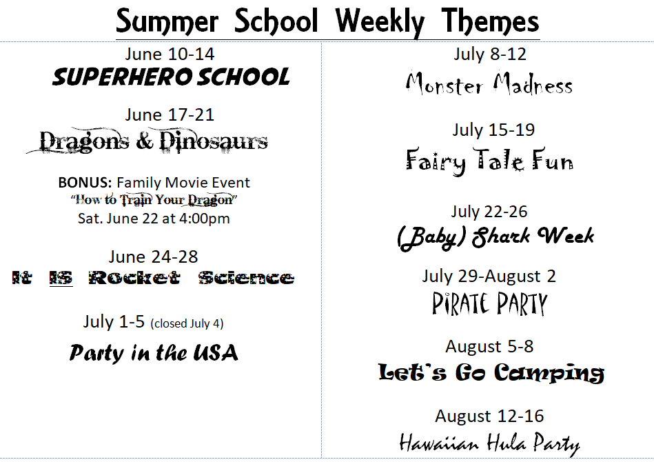 Summer School – The Creek Preschool